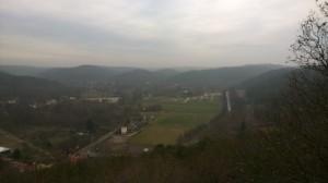 widok z wierzy widokowej - Pachołek - na wzgórza morenowe Gdańsk Oliwa