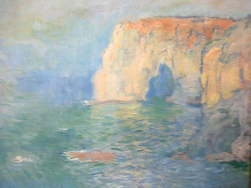 Claude Monet Étretat la Manneporte, reflets sur l'eau żródło www. commons.wikimedia.org