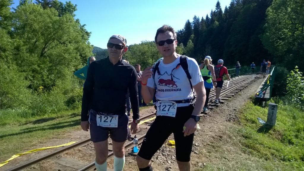 32km - przepak w Cisnej przed nami odcinek 23km